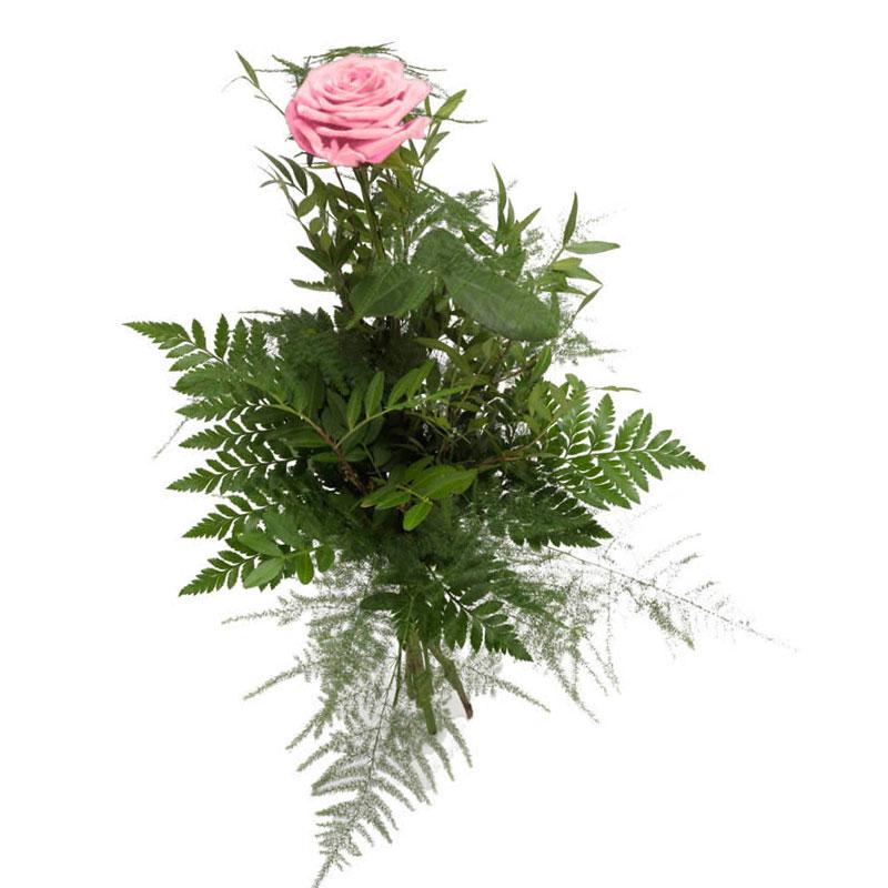 1 розовая роза