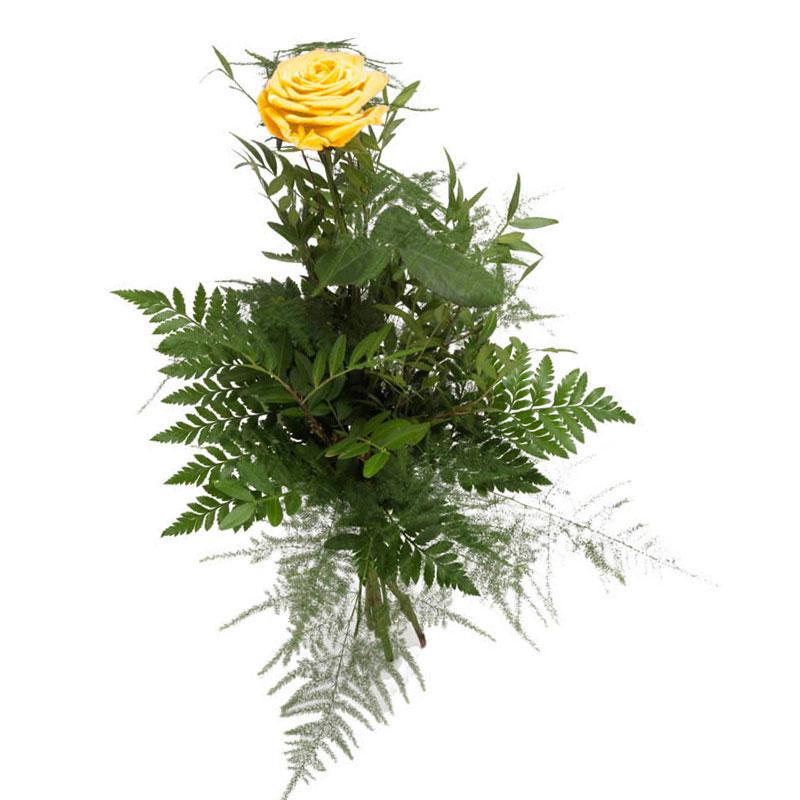 1 желтая роза
