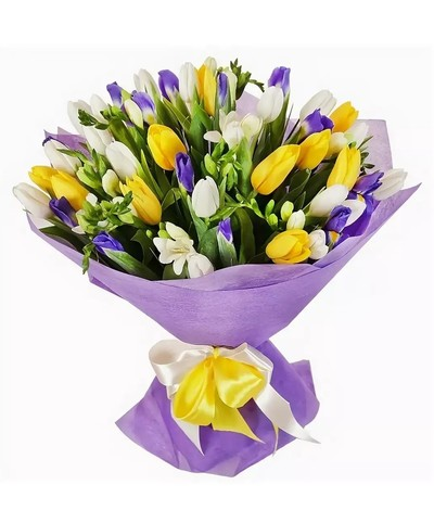 Тюльпаны, ирисы, фрезия