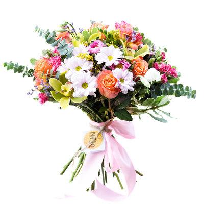 Орхидеи розы хризантемы